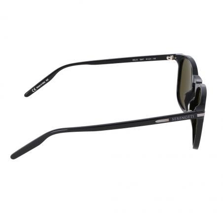 Gafas de sol Serengeti DELIO Shiny Black lateral
